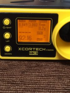 X3200でVSR-10の初速測定