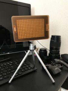 カメラライト黄色