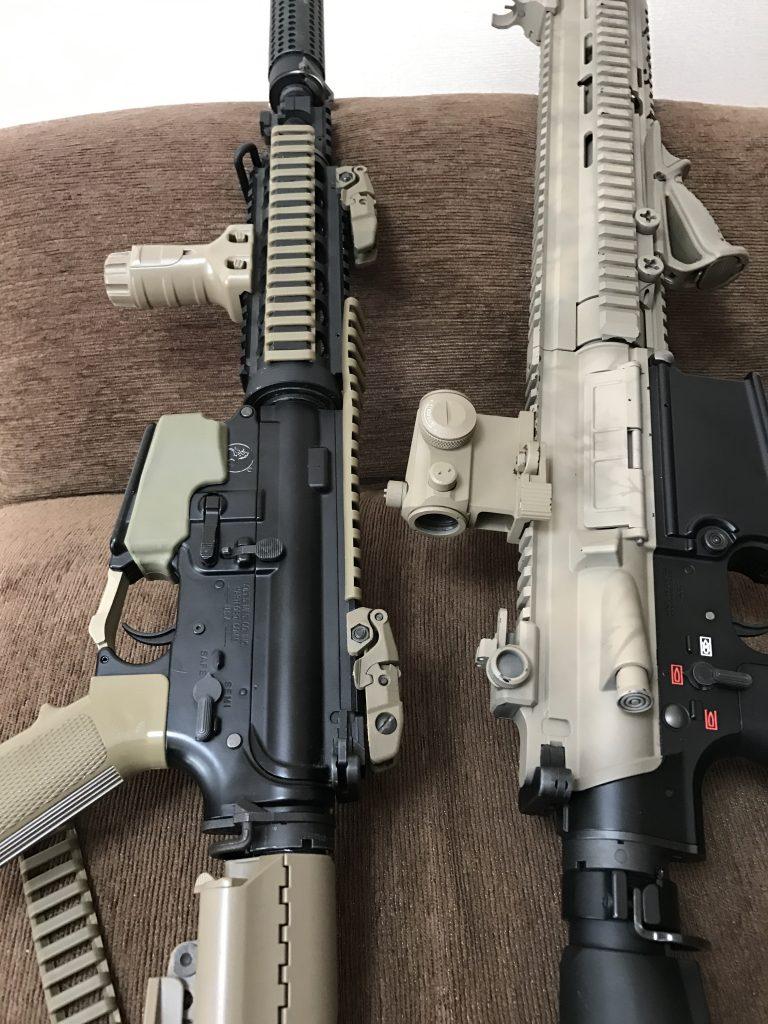 M4CQB-RカスタムとHk417D専カスタム