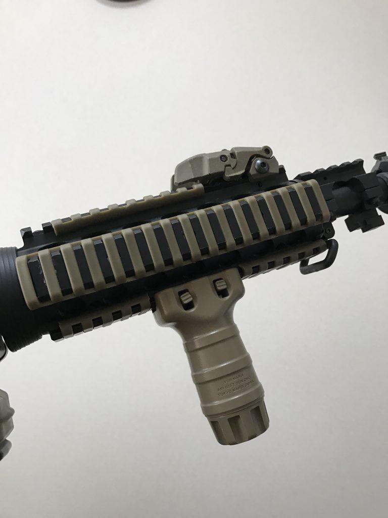 M4CQB-Rと20mmレイルカバー